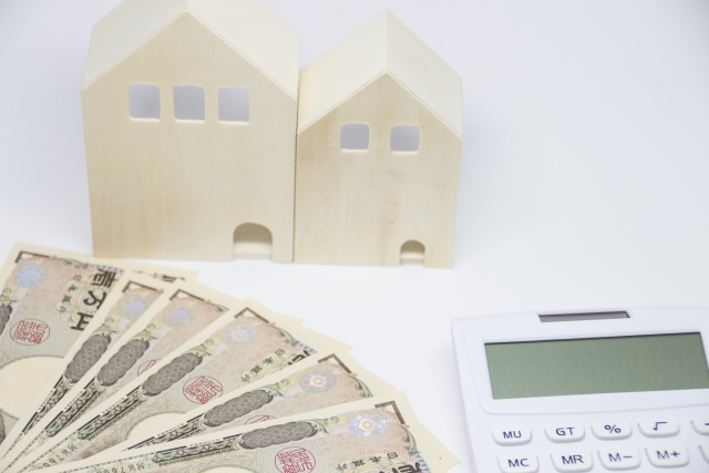 家の模型 計算機 お金
