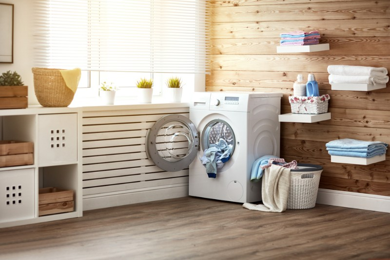 洗濯機とランドリールーム