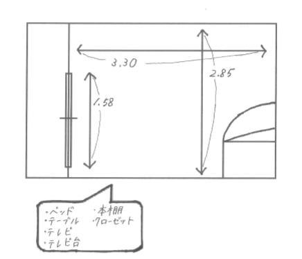 部屋の設計図②