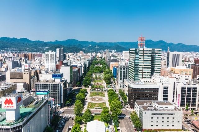 札幌市の街並み