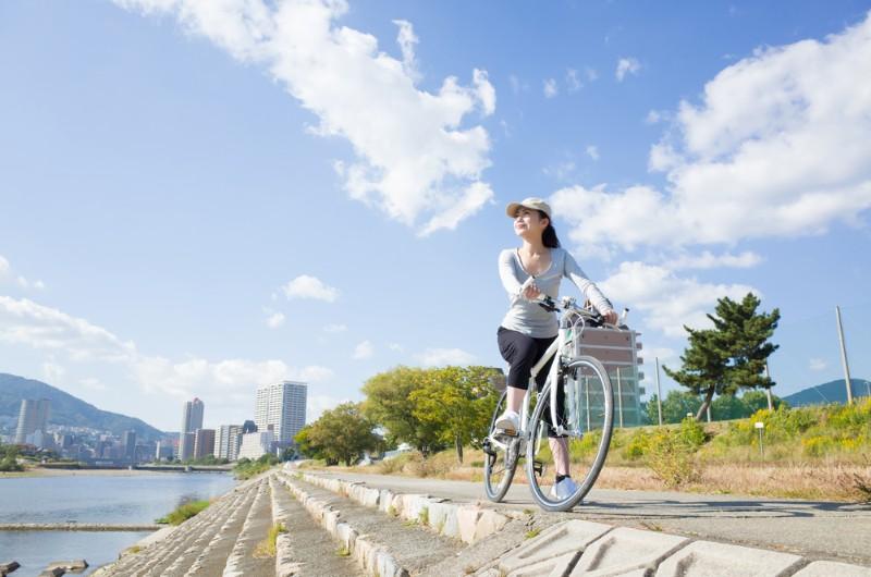 移動する際は自転車を使用しているイメージ